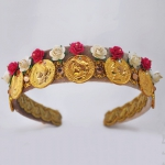 new-coins-d&g-swarovski-gold-pink-white-flower-roman-headband-01