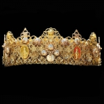 new-wedding-crown-roman-d&g-set-metal-vintage-24k-gold-01